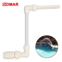 DMAR Swimming Pool Waterfall Fountain Equipment Decor Above grod In ground Pools Waterfall Home Decor Pool Tool Toys Accessory