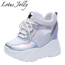 Mesh Breathable Women Sneakers 10cm High