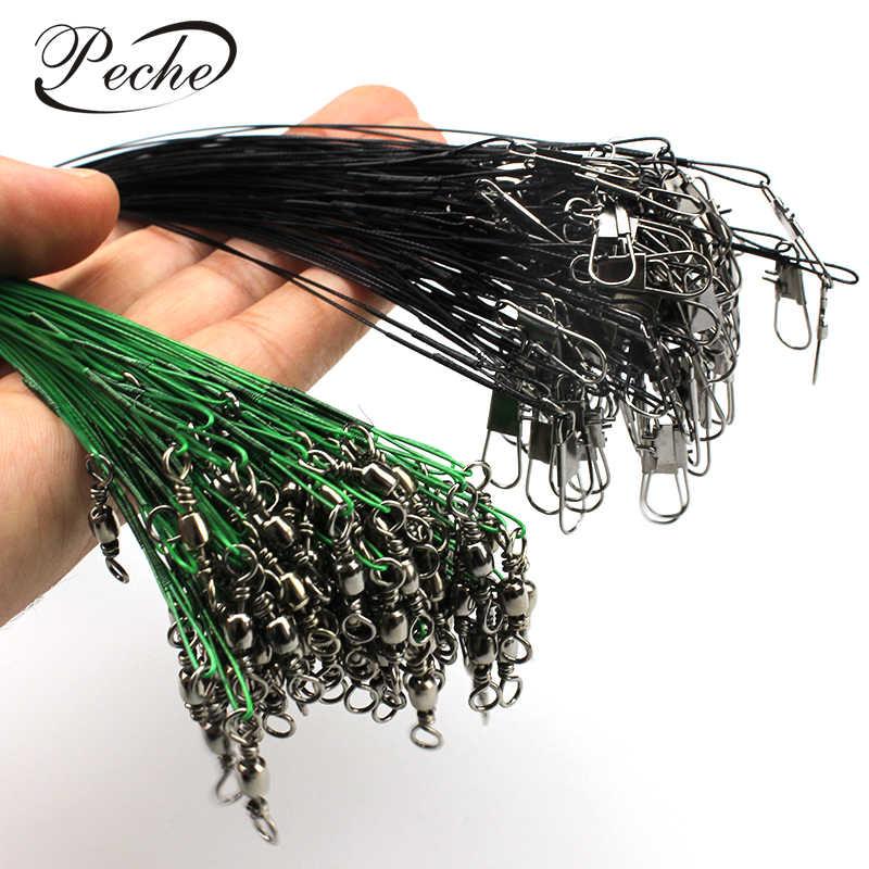 ペシェ 10 ピース/ロット抗一口編組釣り糸大手鋼ペスカワイヤースイベルステンレス漁具アクセサリーツール