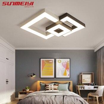 Modern Led tavan ışıkları uzaktan kumanda ile lamparas de techo Led lambalar oturma odası yemek odası için armatür plafonnier