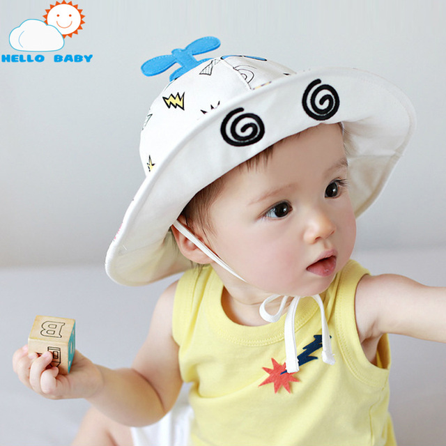 Toddler Infant Hats Sun Cap Cartoon Summer Outdoor Girls boys Beach Bucket  Cute baby summer hat 45dc610da96