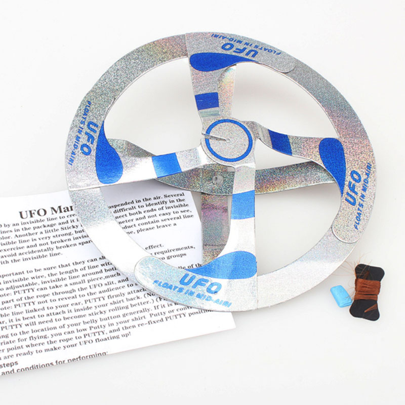 Flying Magic Trick Disk Mid Air UFO Floating Fly UFO Saucer Magic Tricks Toy Mystery Trick