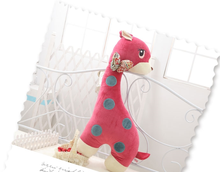 lovely plush rose deer toy stuffed Sika deer doll pillow gift about 80cm