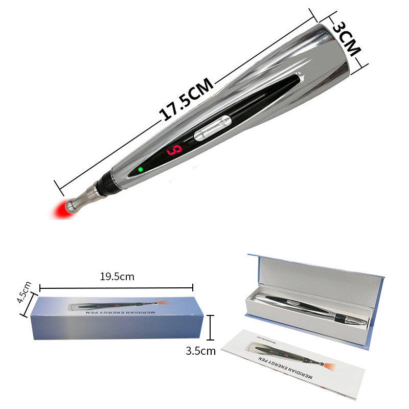 Electric Charge Acupuncture pen Meridian Energy Pen Pain Relief Laser Therapy Charge Massage Pen Body Head Back Neck Leg Massage