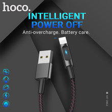 hoco cable usb a for Lightning smart power off indicator fast charging data sync wire cord charger for Apple iphone ipad кабель a data lightning usb для iphone ipad ipod 1м золотистый amfial 100cmk cgd