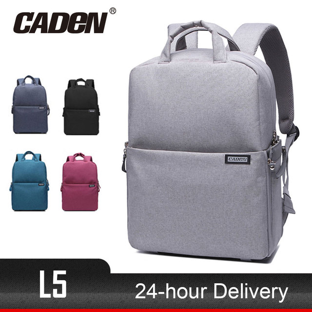 33225b29af7 Hot sale CADeN L5 dslr camera bag waterproof shoulder Laptop digital camera    lens photograph luggage bags case for Canon Nikon