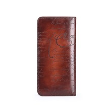 TERSE_Wholesale price engraving handmade leather purse for men business long wallet iphone 7 bag luxury 7 colors putting logo