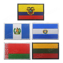 Embroidery Patches Ecuador Guatemala El Salvador Lithuania Belarus Spain Italy Germany France Poland National Flag Patch Badges(China)