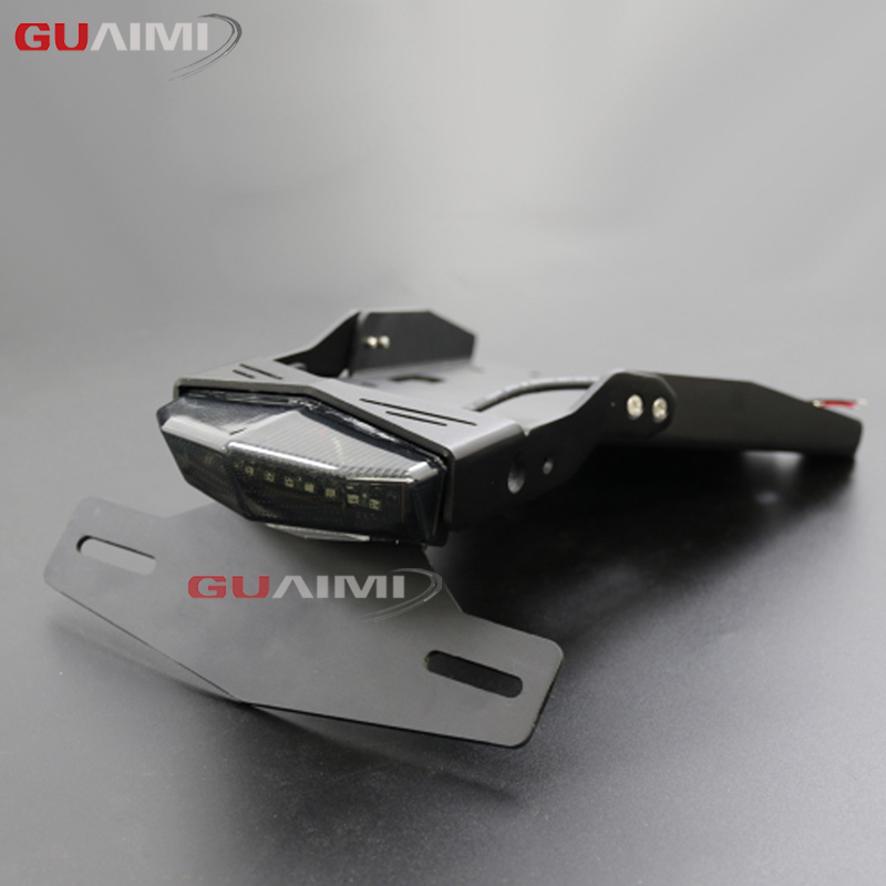 Motorcycle Tail Mount License Plate Bracket Brake Rear Lamp Taillight For BMW R NINE T 2014