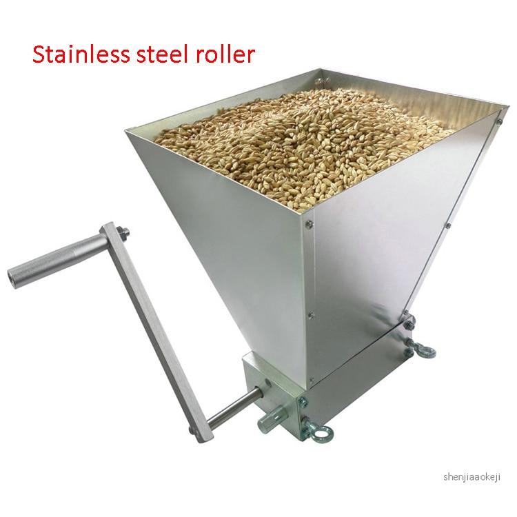 Grain Mill Barley Grinder Malt Crusher 3 Roller Wheat Home Brew Food Industry