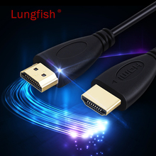 Lungfish HDMI cable 1080P 3D With Ethernet HDMI Adapter  for HD TV LCD Laptop PS3 Projector Computer Cable