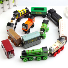 21 Style Children's Toys Wooden Thomas Train Car Wooden Magnetic Puzzle Toy  Cars And Locomotives Great Gift Toys