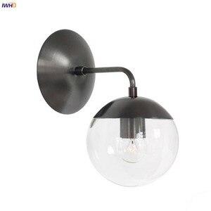 Image 5 - IWHD נורדי מודרני הוביל קיר אורות גופי סלון חדר אמבטיה מראה אור זכוכית כדור קיר ליד פמוט בית Lightin g