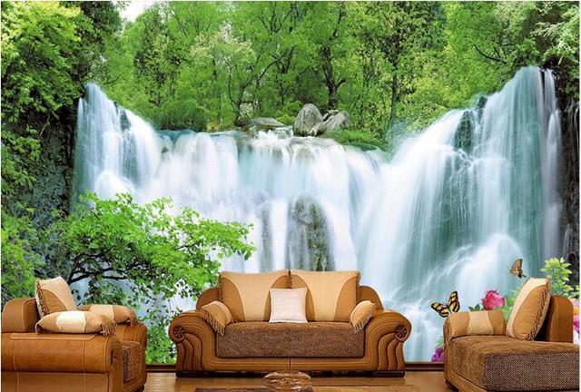 3d behang custom muurschildering non woven 3d kamer behang water