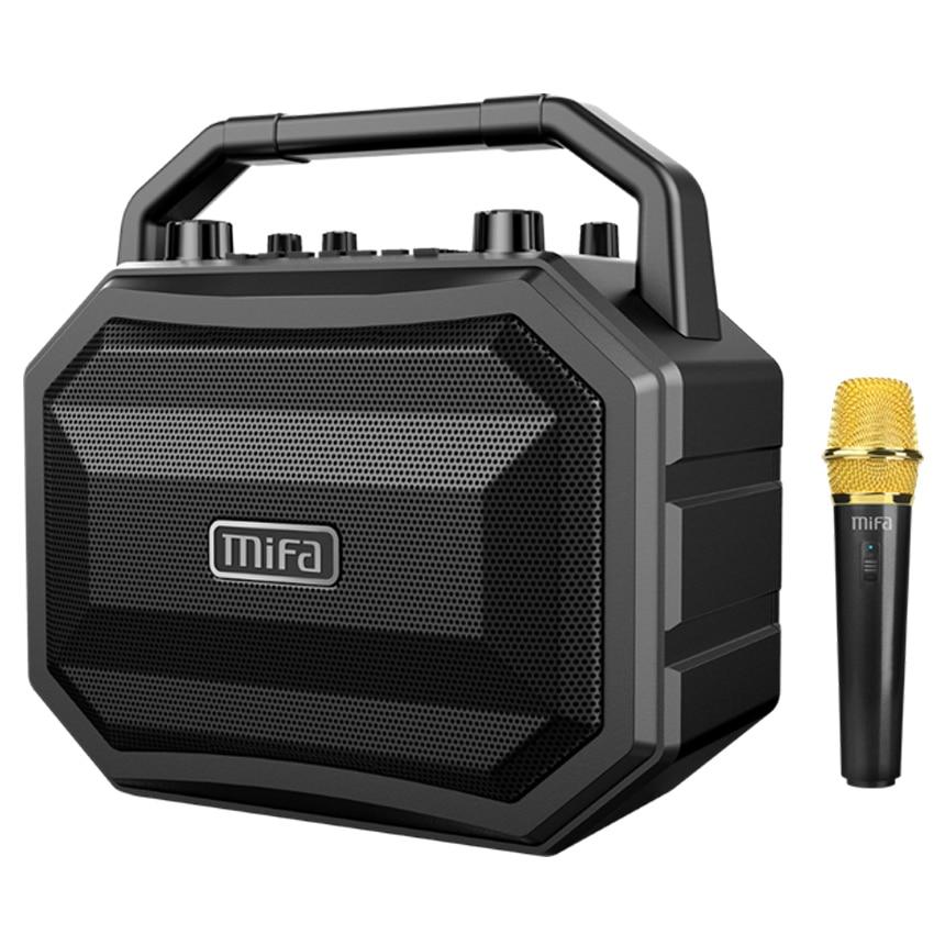 Mifa M520 Bluetooth динамик с беспроводным микрофоном мобильный беспроводной караоке спикер TWS беспроводные стерео вечерние Super Speaker Box