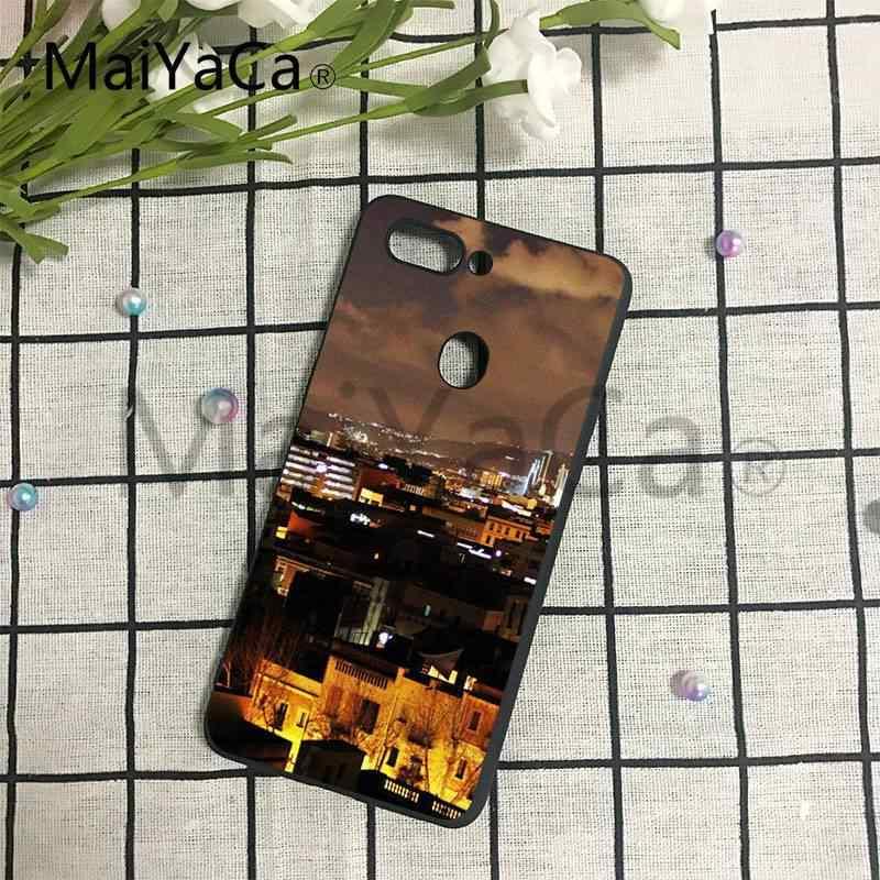 MaiYaCa Città di Barcellona Ultra Sottile Del Modello Del Fumetto Posteriore Cassa Del Telefono Per Huawei P6 P7 P8 P9 P10 Copertura Del Telefono Mobile
