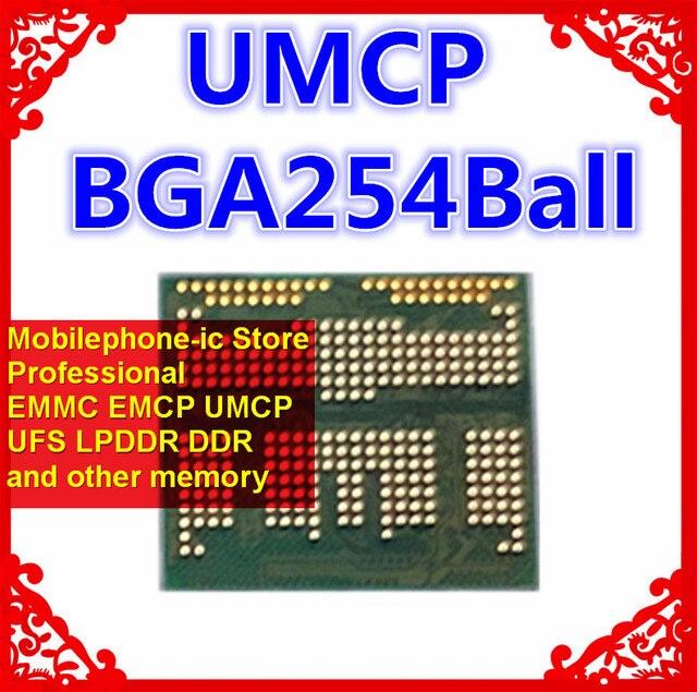 KM5V7001DM B621 BGA254Ball UMCP 128+32 128GB Mobilephone Memory New original and Second hand Soldered balls Tested OK