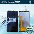 Para lenovo s8 s898t black display lcd full + touch screen digitador assembléia + ferramentas