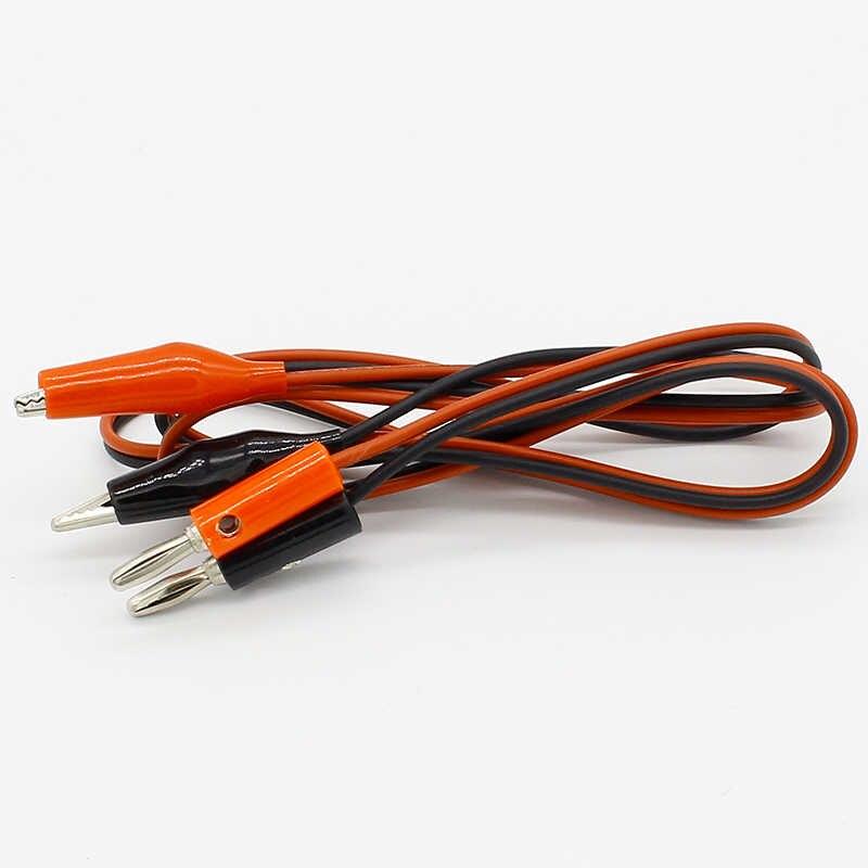 4mm enjeksiyon muz fiş Shrouded bakır elektrik kelepçe timsah klip Test kablo açar 1M Test probu