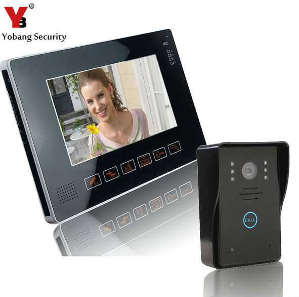 """YobangSecurity 9"""" Video Audio Intercom Doorbell Video Door Phone Bell Access Control 1 Camera 1 Monitor for Home Security System"""