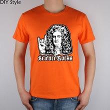 GEEK Rock Newtonian physics science Giants T-shirt cotton Lycra top 1540 Fashion Brand t shirt men new DIY Style high quality