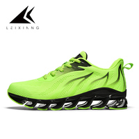 0bcbeb085173a Fluorescent Green Outdoor Running Shoes Flame Design Sport Shoe Men Shock  Absorption Breathable Men S Sneakers