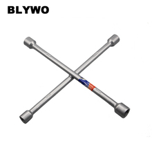 лучшая цена 15inch length Cross Wrench Auto Tyre Remover Socket Wrench Car Repair Tools Mounting Spanner Hex socket size 17/19/21/23mm