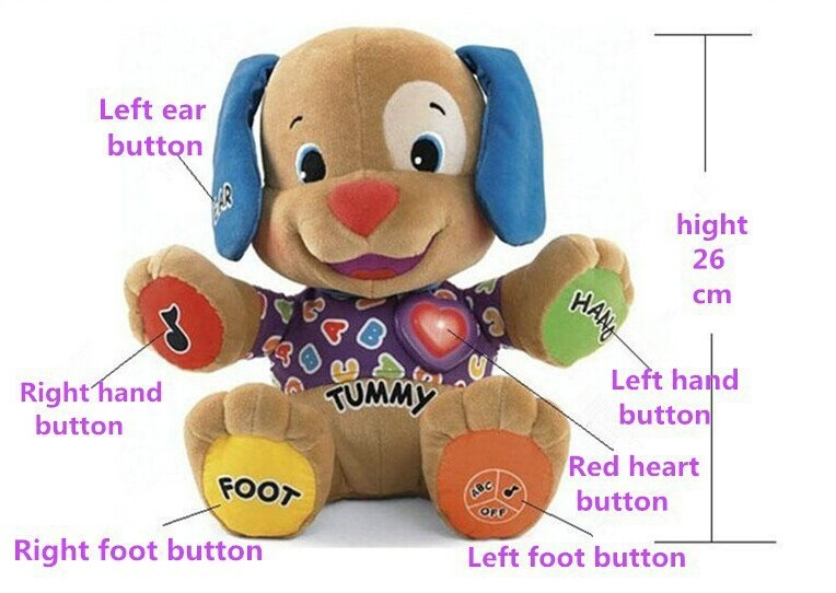 Low Price Fisher Dog Toys Baby Musical Plush Electronic Toys Dog