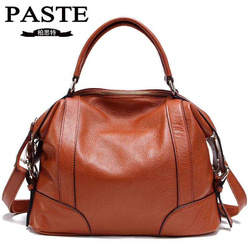 Cow leather big Capacity Women shoulder bag Messenger Bag Famous Designer genuine Leather Handbag de piel alta calidad bolso hot