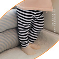 Top quality autumn striped baby leggings 100% cotton baby girl leggings autumn winter unisex baby leggings with velvet warm girl