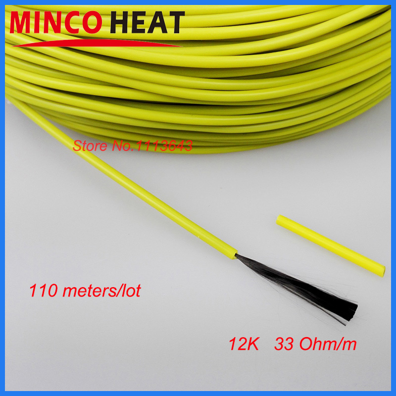12K 110m 3mm New Infrared Underfloor Heating System Cable for ...