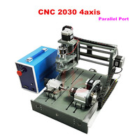 No Tax To Russia Mini CNC Router 2030 Parallel Port 4axis Cnc Lathe DIY Cnc Milling