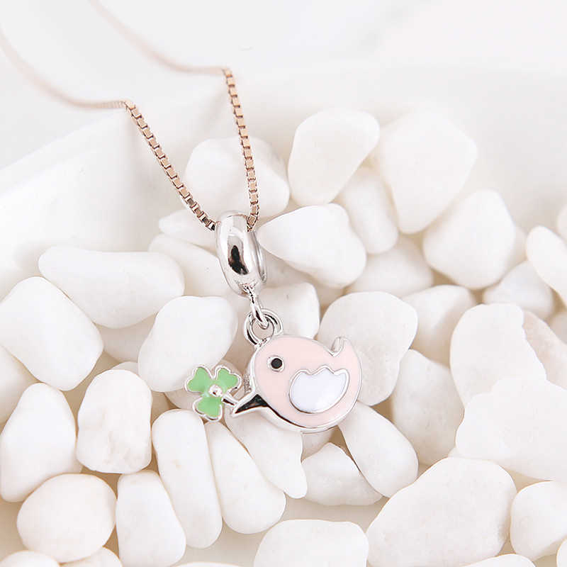 New Authentic 925 Sterling Silver Beads Charme Bonito Little Bird Pingente Encantos Fit Pandora Diy Pulseiras Moda Feminina Jóias