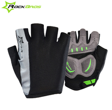 RockBros Men Women Gel Bike Cycling font b Gloves b font Half Finger Short Bicycle Riding