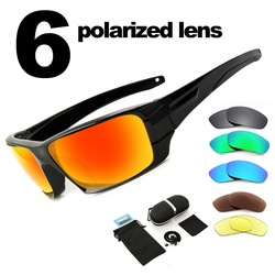 NEWBOLER Gepolariseerde Vissen Zonnebril Camouflage Frame Sport Zonnebril Vissen Eyewear Oculos De Sol Masculino UV 400