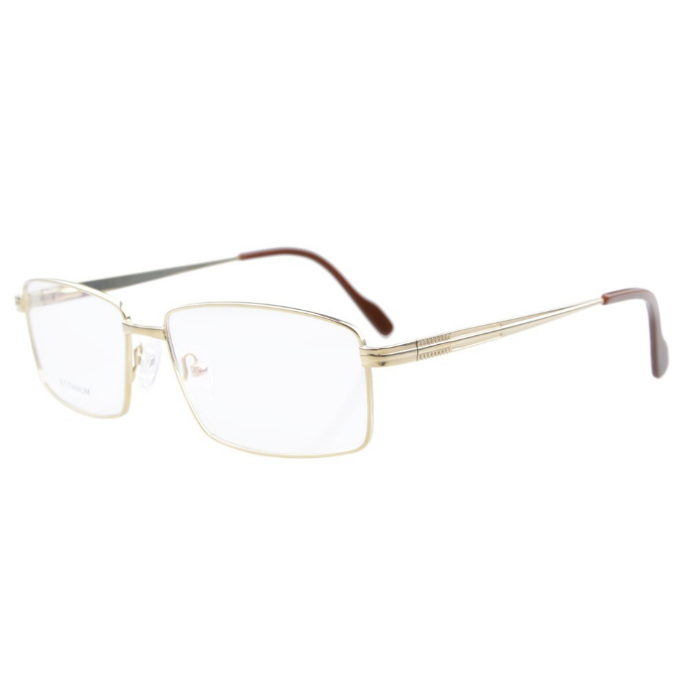 LQB026 lunettes de vue titane cadre optique printemps bras articulés lunettes cadre hommes