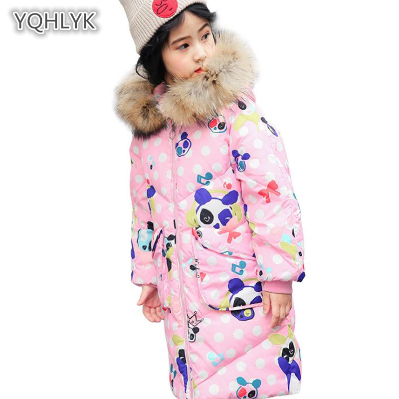 Children Winter Girl coat Fashion Hooded Warm Girl Cotton Thicken Down Jacket Long Cotton Girl Parkas Outerwear & Coats LK085 winter jacket women 2017 mid long thicken warm cotton padded down parkas coat faux fur collar hooded jacket for girl