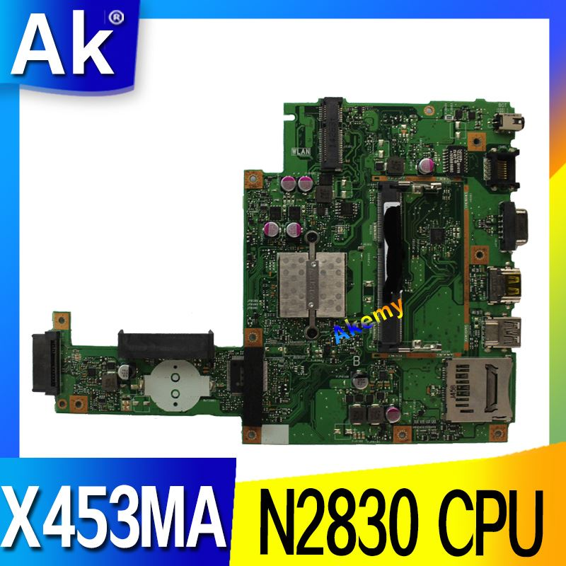 AK For ASUS X453MA X403M F453M Laptop motherboard X453MA N2830 CPU Mainboard test good