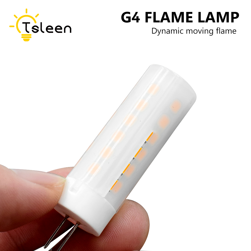 TSLEEN Free Shipping! 10PCS SMD 2835 Led Flame Lamp Led Flickering Flame Effect Fire Light Corn Bulb Lighting For Room Decor