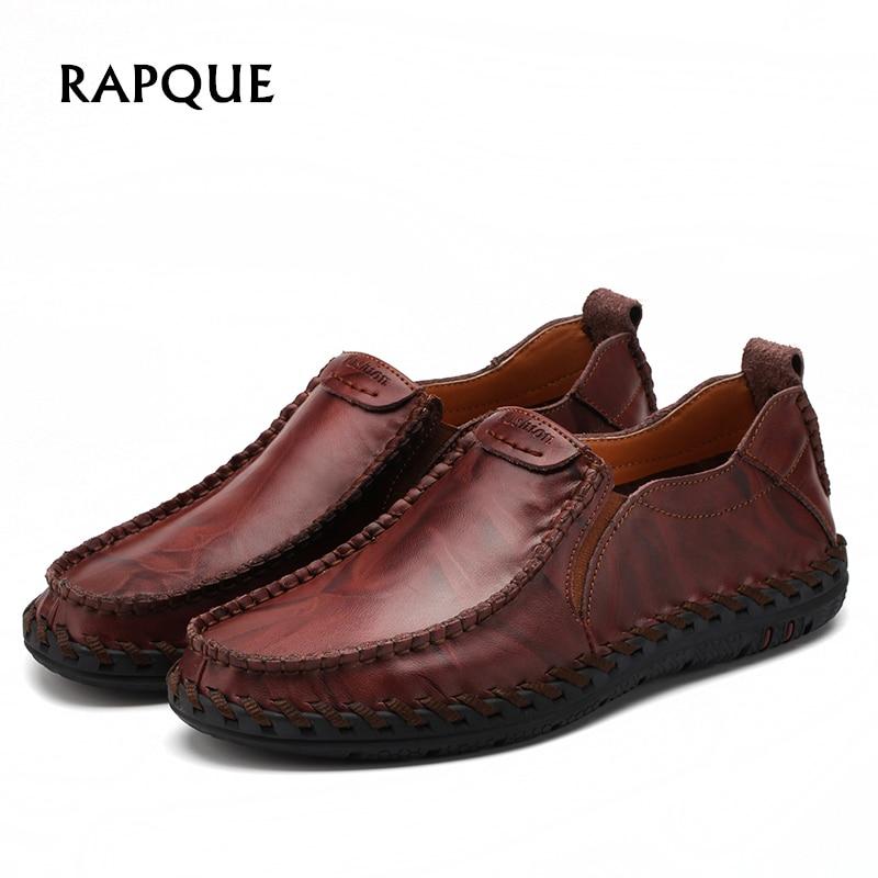 Casual Mens pantofi loafers pantofi autentic de vacă din piele - Pantofi bărbați - Fotografie 1