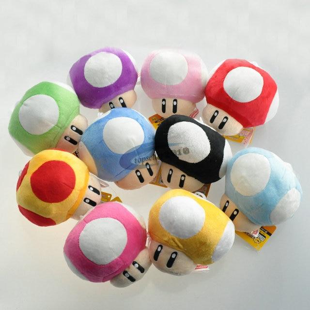 6 CINCO CENTÍMETROS Super Mario Bros Luigi Yoshi Toad Mushroom Cogumelos Chaveiro de pelúcia Anime Figuras de Ação Brinquedos para as crianças presentes brithday