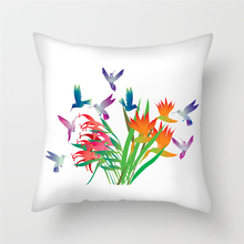 Fuwatacchi Birds Flowers Cushion Covers Chinese Style Peony Painting Lamei Heart Pillow Cover Sofa Chair Home Decor case