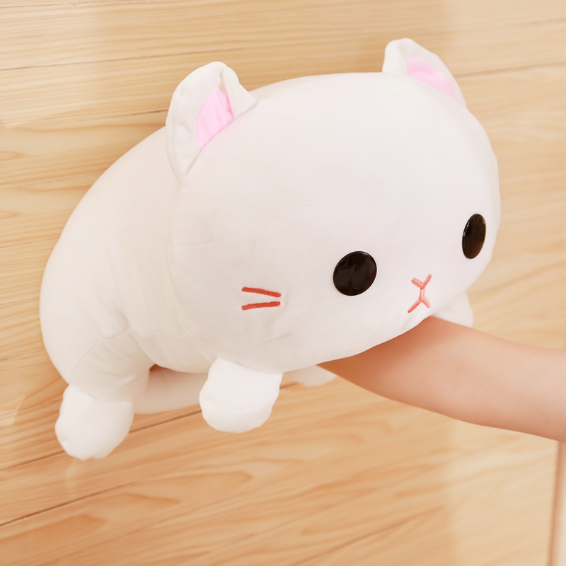 Cartoon Cute Down Cotton Small Milk Cat Doll Plush Toy Soft Kneeling Cat Pillow Pillow Cushion Sofa Room Decoration