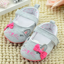 Baby Girls Shoes  Infant Baby Cartoon Cat Shoes Soft Sole Toddler Newborn First Walkers Cotton Crib Shoes