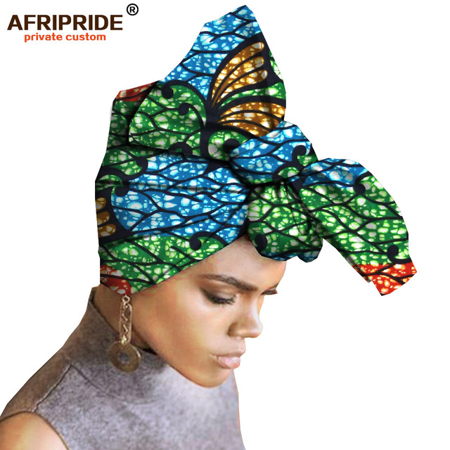 2019 African Head Scarf print cotton high quality african traditional Bazin Rich HeadwearA6S05