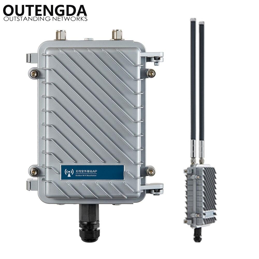 300 Mbps 2.4g Long Range Extérieure AP CPE Routeur WiFi Amplificateur de Signal Répéteur WiFi Hotspot Sans Fil Point D'accès Soutien poE