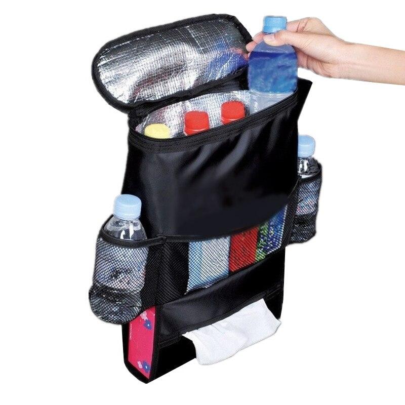 Ice Bag Cooler Box Heat Preservation Coke Bag Cooler Auto Car Seat Boot Organizer Storage Hanger Backseat Box Travel Accessories