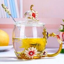 OUSSIRRO, эмаль, цветная стеклянная Подарочная коробка, чашка для женщин, домашний рождественский подарок, отправить подруге, чашка с короной, тепло, креативный подарок