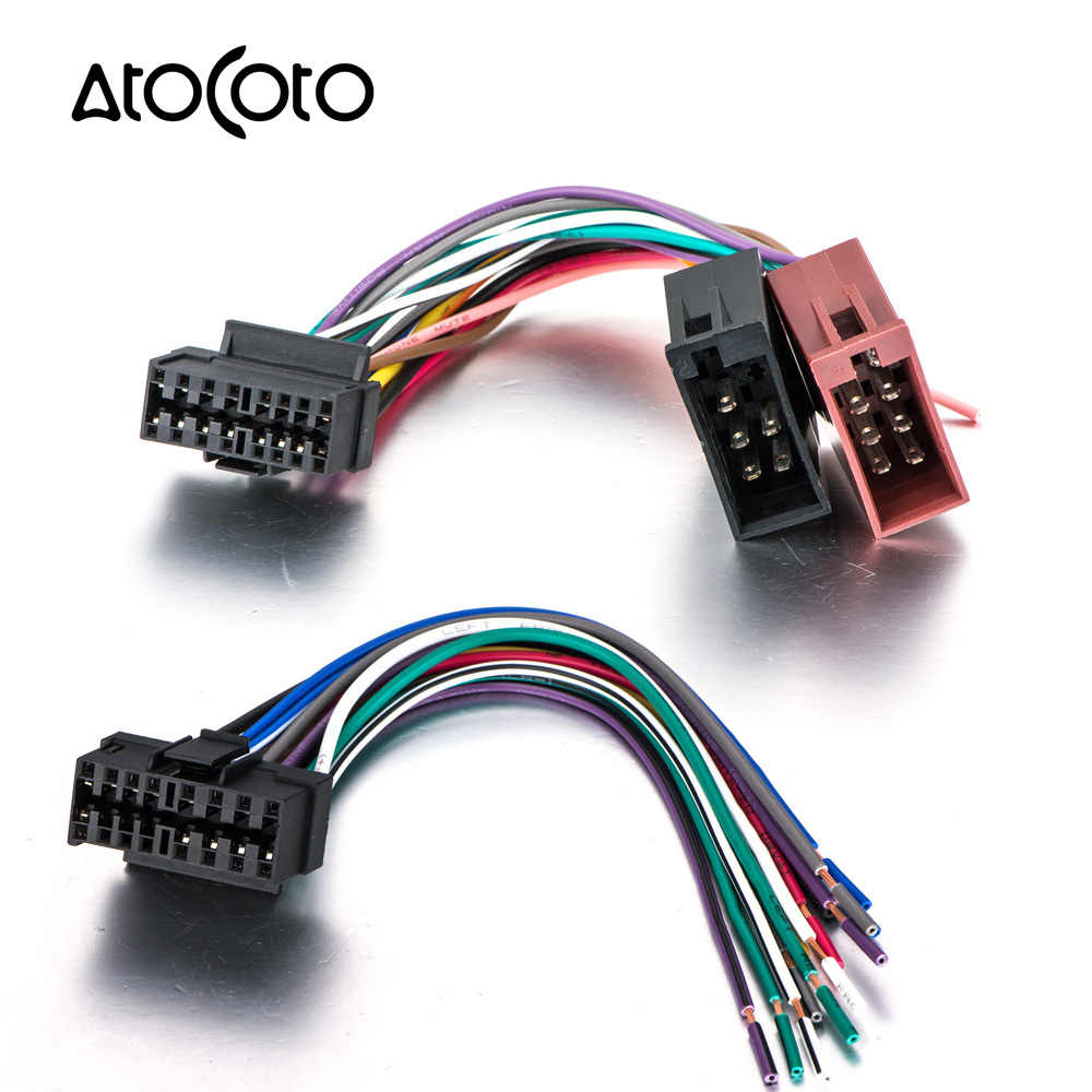 medium resolution of car cd radio audio stereo iso standard wiring harness connector wire adaptor plug cable for sony