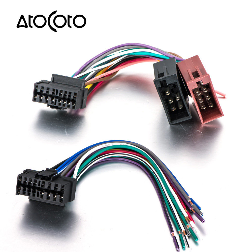 Online Shop Leewa Universal Male Iso Radio Wire Cable Wiring Harness Chrysler Crossfire Car Cd Audio Stereo Standard Connector Adaptor Plug For Sony